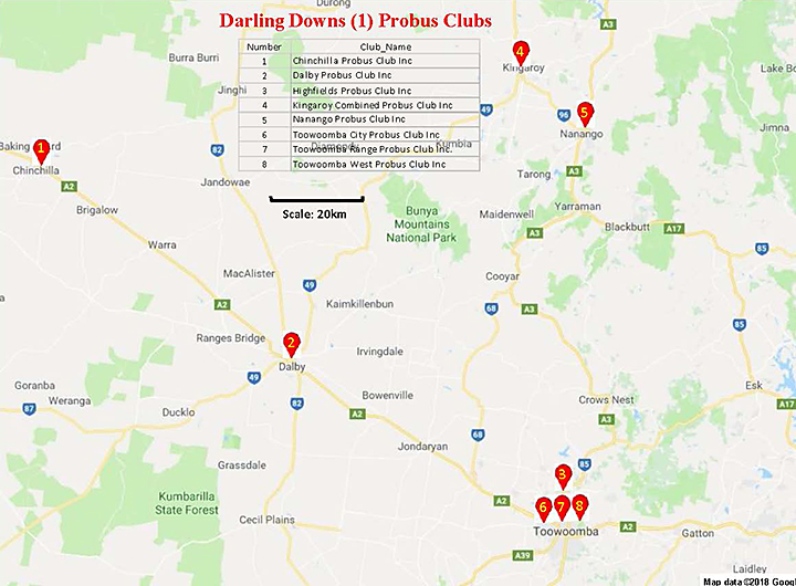 Darling Downs Probus Clubs