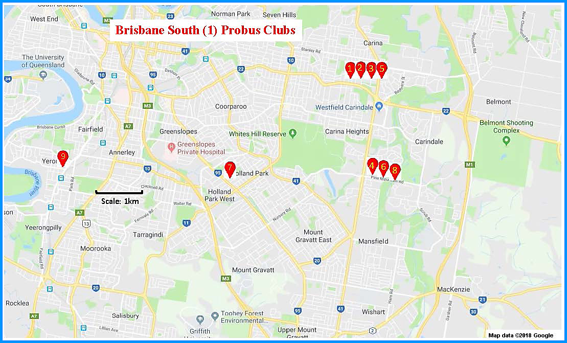 Brisbane South (1) Map