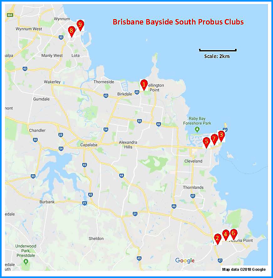Brisbane Bayside South Map
