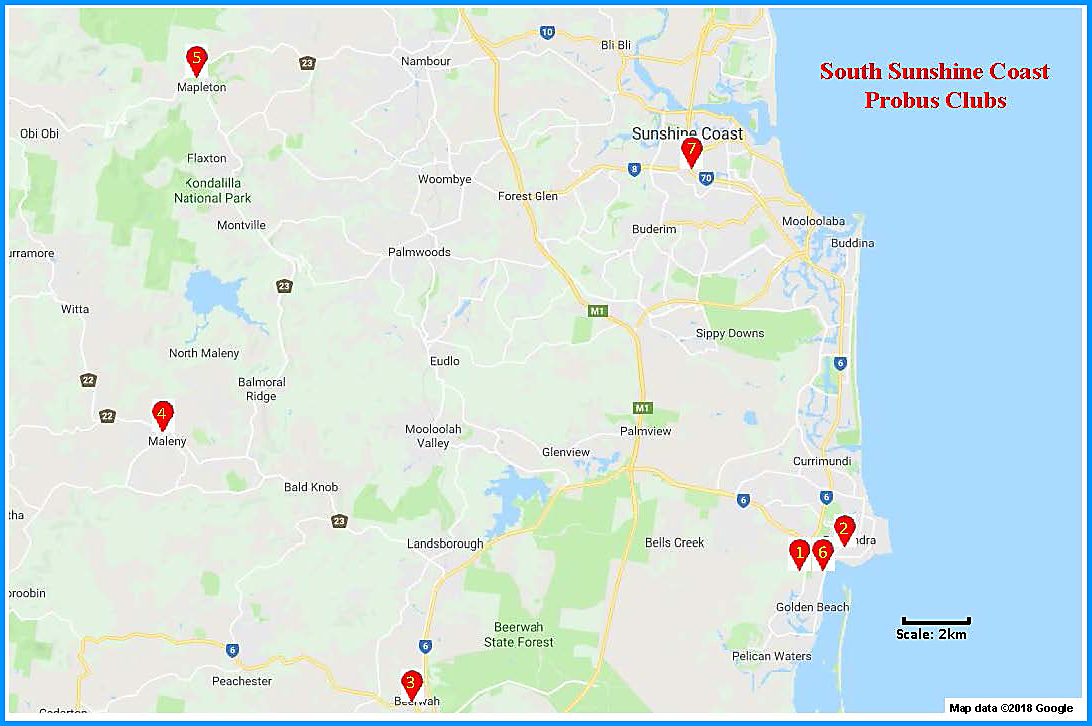 South Sunshine Coast Map